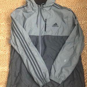 Adidas Hooded Zip Up Windbreaker